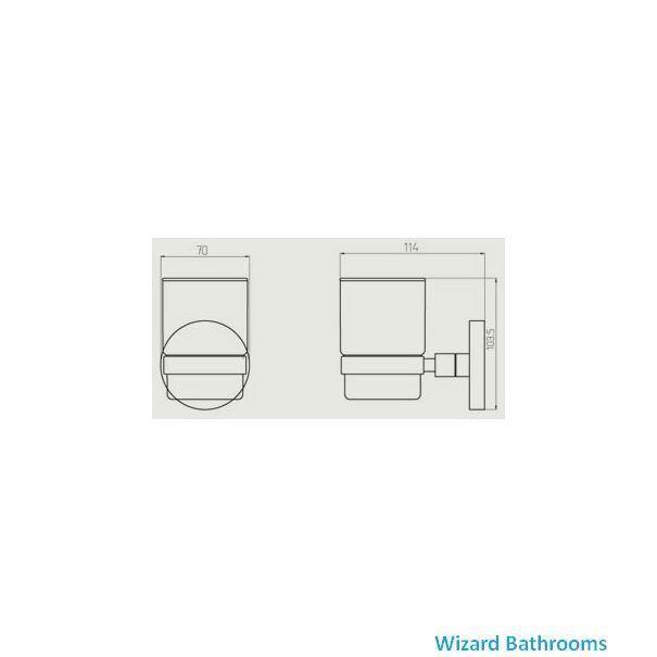 Haceka Pro 2500 Glass Holder 1138390 Wizard Bathrooms