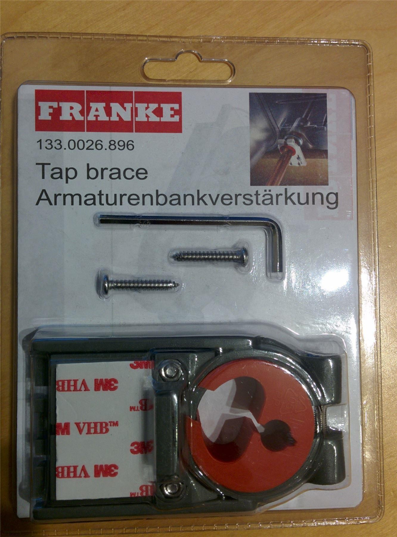 Franke Tap Brace - Support Fixing for Kitchen Sink Taps 133.0026.896 ...