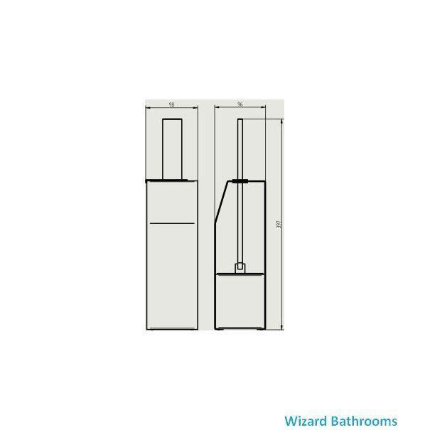 Haceka Edge Toilet Brush Holder Wizard Bathrooms